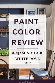 What is the undertone of White Dove? What are the best white paint colours to use for trim and ceilings with this popular white paint color by Benjamin Moore? Also, see color comparisons and a beautiful color palette with White Dove.