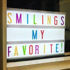 I just like to smile. Smiling's my favorite! #elf #christmas #mycinemalightbox    #Regram #homedecor #decor #lightbox #christmas