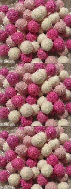 Holiday 160716: Handmade Pink 100%Wool 2 Cm Felt Balls Beads Nursery Craft Supplies Pom Pom Ball -> BUY IT NOW ONLY: $89.99 on eBay!
