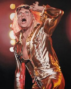 "david lee roth  48""x 60  oil commission   #davidleeroth #seattleartist #oilpainting"