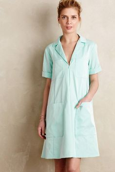 Ciel Shirtdress Mint Green Swingy Dress By Nanette Lepore Anthropologie, Size S #NanetteLepore #SundressTunicDressShiftDress #AnyOccasion