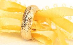Vintage Diamond Cut 14K Band Ring by EclairJewelry on Etsy