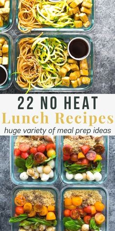 22 cold lunch ideas that you can meal prep ahead of time! These recipes are perfect for when you don't have access to a microwave. Browse through the salads, bowls, bento boxes, wraps and pitas! #sweetpeasandsaffron #lunch #mealprep Best Lunch Recipes, Favorite Recipes, Amazing Recipes, Lunch Meal Prep, Meal Prep Bowls, Wrap Recipes, Clean Eating Recipes, No Heat Lunch, Rotisserie Chicken Salad