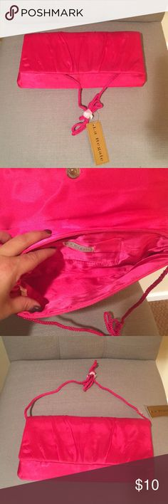 Beautiful Satin Pink Clutch! Beautiful Satin Hot Pink Clutch! NWT La Regale Bags Clutches & Wristlets
