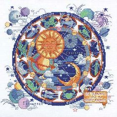 Borduurpatroon Sterrenbeeld Kruissteek *X-Stitch Pattern Zodiac ~Dierenriem *Zodiac 1/8~