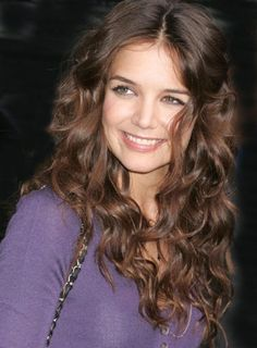Katie Holmes' long, layered curls  http://skintastic.com/