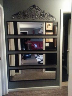 Since larger mirrors tend to be a little on the pricey for Interior by designs family dollar