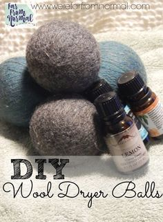 Why should you make your own dryer balls?   They replace your dryer sheets-  You know those chemical laden waxy things?? Throw them out. You don't need them any…