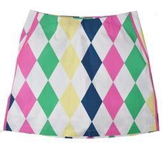 "NEW! Jack-In-The-Box golf skort by Golftini - fun and flirty. Available in regular (17.5"") and club (19"") lengths (size 0-16)"