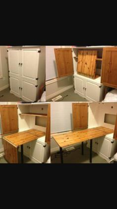 Charmant Sewing Armoire Idea For Fold Out Table   Perfect For My Crafts And  Knitting, Too!