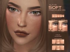The Sims Resource: Soft - Face Freckles HQ by Alf-si • Sims 4 Downloads