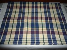 "Vintage Cotton Kitchen/Hand Towel.  Blue/Green Window Pane Plaid. 28"" X 18"".   #DoesNotApply"