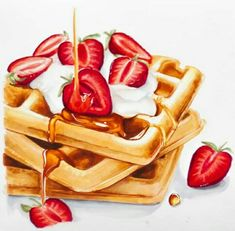 Best Picture For food art collage For Your Taste You are looking for something, and it is going to t Food Art Painting, Cute Food Art, Dessert Illustration, Food Sketch, Watercolor Food, Color Pencil Art, Food Drawing, Marker Art, Food Illustrations