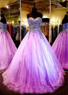 $189_Crystals Beaded Luxury Quinceanera Dresses _Pageant Dresses_Purple Prom Dresses