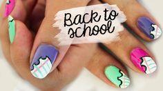 http://www.youtube.com/user/HelloMaphie #nails #nailtutorial #nailart #manicure #uñas #backtoschoolnails