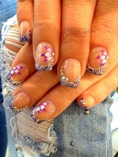 Jeans style by HezsaiSzilvia - Nail Art Gallery nailartgallery.nailsmag.com by Nails Magazine www.nailsmag.com #nailart