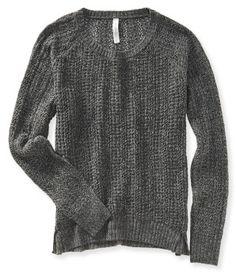 Open Knit Raglan Sweater - Aéropostale®