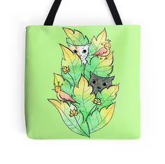 """Hunt"" Tote Bags by ptitsa-tsatsa 