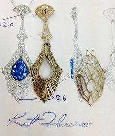Kat Florence - Emergence of Colliers with AAA Ceylon Sapphire