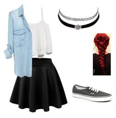 Skirt with Sneakers Cute Outfits for School