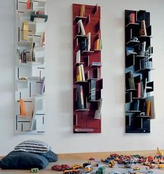 Insert Coin Shelf System, designed by Nils Holger Moormann Minimalist Bookshelves, Creative Bookshelves, Bookshelf Design, Cool Shelves, Storage Shelves, Storage Spaces, Shelf System, Shelving Systems, Shelving Ideas