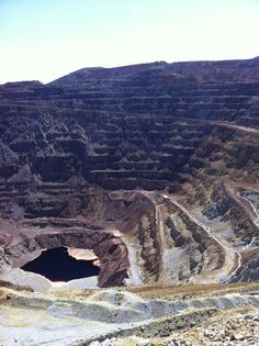 Lavender Pit Open Copper Mine, Bisbee, Arizona, USA  #LavenderPit #OpenMine #Copper #Bisbee #Arizona #USA