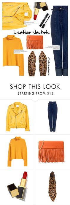 """Cool Girl Style: Leather Jackets"" by blackadonia ❤ liked on Polyvore featuring MANGO, Rachel Comey, Boutique Moschino, Tom Ford, Tabitha Simmons, Christian Dior and leatherjackets"