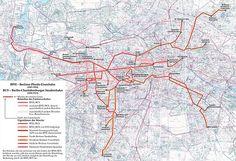 1865-1919 Strecken und Liniennetz der Berliner Pferde-Eisenbahn und…