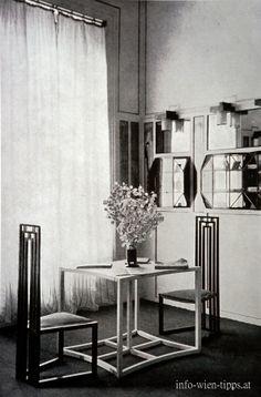 Fashion salon (reception room) of  the sisters Flöge , Mariahilferstrasse, Vienna 1903, Design: Koloman Moser and Josef Hoffmann