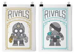 Rivals - Steampunk Vinyl Designer Toys by Chase Layman ...
