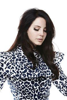 Lana Del Rey in cheetah print - eyes closed