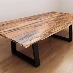 This table is the CREAM OF THE CROP at Lumber Furniture. An Australian Hardwood Oak Dining Table top with powder coated metal loop legs. Timber Dining Table, Furniture Dining Table, Dining Table Design, Round Dining Table, Dining Room Table, Console Tables, House Furniture, Wood Table, Recycled Timber Furniture