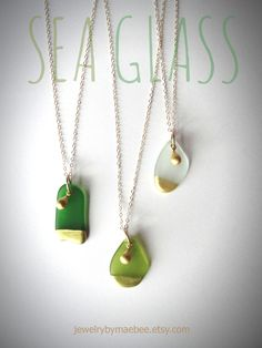 These Painted SeaGlass Necklaces are my best sellers this holiday! I can't make enough of them! xoxo