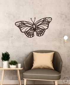 Metal Wall Art Butterfly Home Decor Interior Signs Steel Minimalistic Office Idea Gift Living Room hanging Tropical monochromatic nursery Office Wall Decor, Wall Art Decor, Metal Bird Wall Art, Decorating Your Home, Interior Decorating, 3d Cnc, Butterfly Wall Decor, Origami, Metal Walls