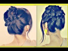 ★WISPY HALO MILKMAID BRAID |FOR MEDIUM LONG HAIR TUTORIAL| UPDOS HAIRSTYLES FOR SCHOOL PROM WEDDING