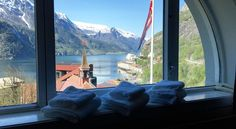 We ♥ Room 202 not only for its magnificent view of the Hardangerfjord. Inside Outside, Beautiful Hotels, This Is Us, Boutique, Mountains, Nature, Room, Travel, Hardanger