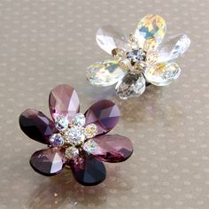 Crystal drops flower brooch tutorial