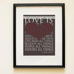 Love is patient, love is kind: Corinthians | Art | Pinterest ...