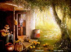 RINCONCITO DEL ALMA Oleo sobre lienzo 60x45cm con marco madera. $400.000