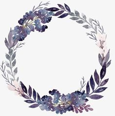Purple Flowers Foliage Garland, Flowers, Plant, Leaves PNG Transparent Image and Clipart for Free Do Frame Floral, Flower Frame, Flower Background Wallpaper, Flower Backgrounds, Wreath Watercolor, Watercolor Flowers, Clipart, Police Officer Gifts, Floral Logo