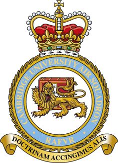 Crest for Cambridge University Air Squadron Military Cap, Cambridge University, Royal Air Force, Crests, Armed Forces, British Royals, Badges, Flags, Aircraft