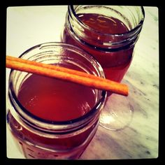 The perfect hot drink to stay cozy during a crisp fall night. I like the added zing of the ginger and lemon to the sweetness of the apple and honey. Use raw whole dried spices, not packaged or grou...