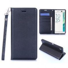 Sony Xperia XA musta puhelinlompakko.