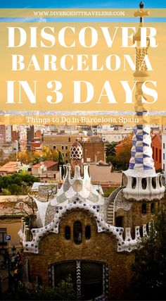 Discover Barcelona in 3 days – Things to do in Barcelona, Spain. Barcelona Guide, Barcelona Spain, Barcelona City, Europe Destinations, Holiday Destinations, Europe Holidays, Spain Travel, Travel Europe, Family Travel