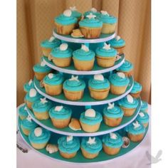Large Round Cupcake Tier Holds 100 Cupcakes by primpmycupcakeshop  sc 1 st  Pinterest & Cake Stands Pedestals u0026 Serving Sets | Cupcake tree Cake and Weddings