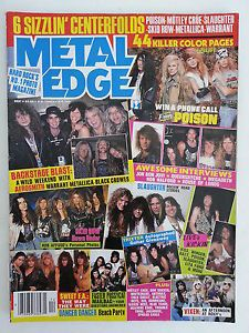 Metal Edge Magazine December 1990 #MetalEdge #hardrock