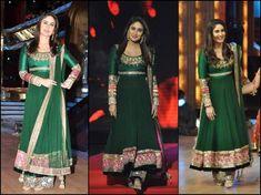 Kareena Kapoor in green anarkali