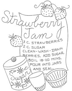 vintage embroidery designs Hand Embroidery Pattern 7598 Vintage Recipes for Tea Towels in Collectibles, Sewing Transfers Embroidery Designs, Embroidery Transfers, Hand Embroidery Patterns, Machine Embroidery, Towel Embroidery, Learn Embroidery, Ribbon Embroidery, Cross Stitch Embroidery, Embroidery Sampler