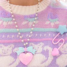 Vintage pastel fairy kei sweater