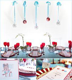 'Tis the Season' Red & Aqua Party Inspiration - Pepper Design Blog
